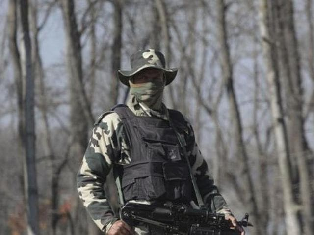 The army said that a joint party of police and army had cordoned off the village when it was fired upon by a group of militants hiding in a house.