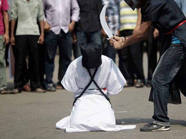 Most people sentenced to death in Saudi Arabia are beheaded with a sword.