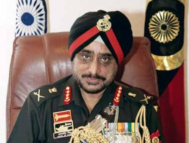 A file photo of Lt Gen KJ Singh, who is the commanding officer of the Western Army Command.