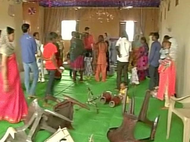A group of men allegedly vandalised a church at Kachna village of Raipur and thrashed worshippers present inside