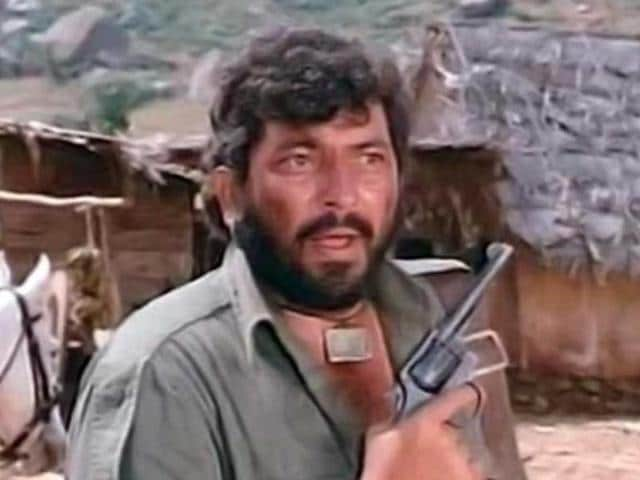 Amjad Khan played the role of Gabbar Singh in Sholay, starring Amitabh Bachchan and Dharmendra.