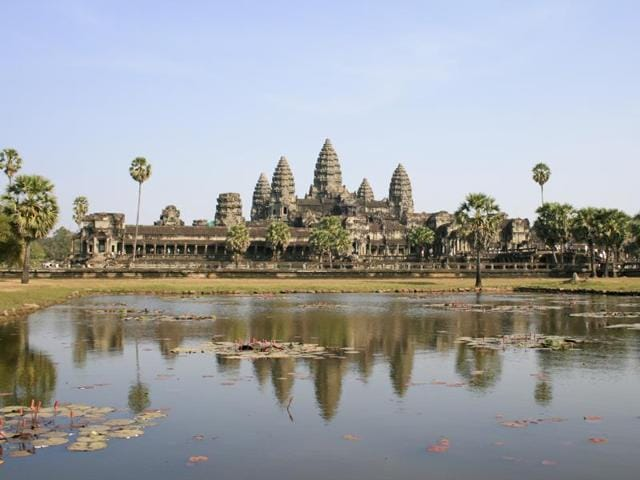 Angkor Wat, built to honour the Khmer kings' sanctity, is the largest religious structure in the world.