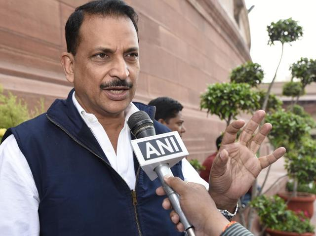Rajiv Pratap Rudy, Union minister of state skill development and entrepreneurship (Independent Charge) & parliamentary affairs at the Parliament House in New Delhi.