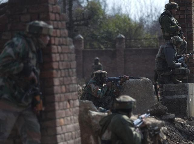 A militant was killed and an army soldier was injured in an encounter at a village in south Kashmir's Kulgam district.