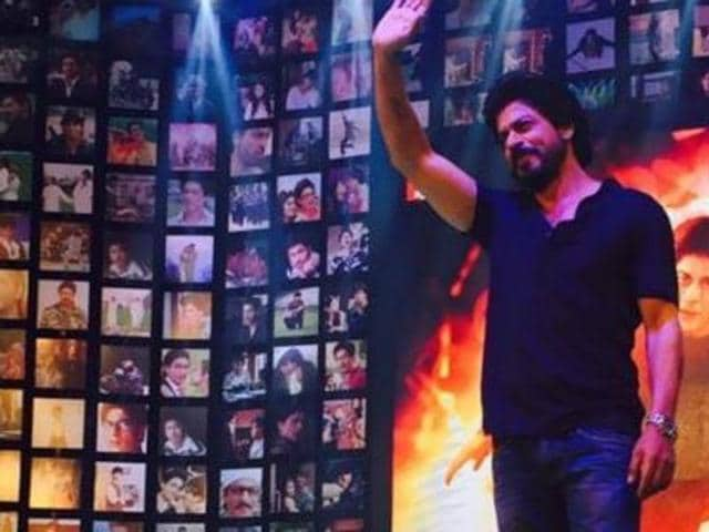 SRK at the trailer launch of Fan. (Twitter)