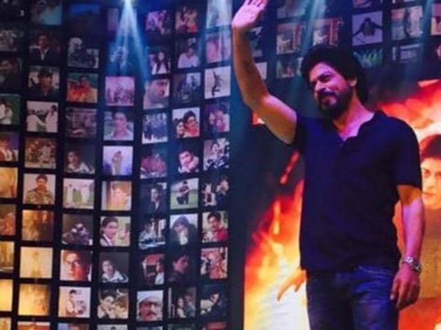 SRKat the trailer launch of Fan. (Twitter)
