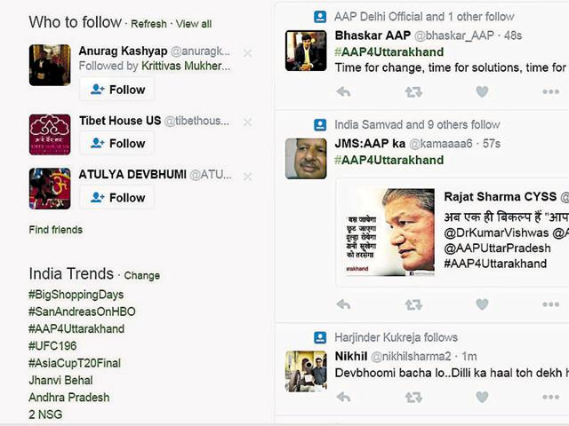 In poll mode, AAP takes campaign against Harish Rawat govt to Twitter