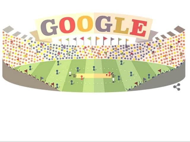Google cashed in on the World T20 fever with a new colourful doodle on its home page on Monday.