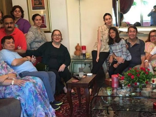 Kapoor and sons and daughters: Rishi Kapoor and family unite for lunch