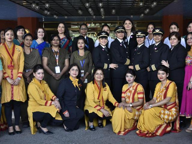 air india,women,flights