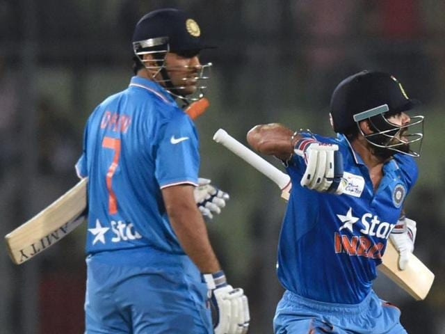 With the kind of cricket India have played over the last month, they will be terribly disappointed if the World T20 eludes them.(AFP Photo)