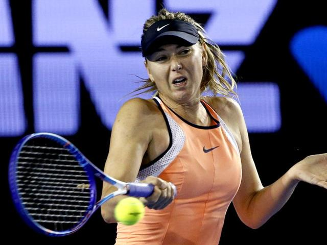 Maria Sharapova hasn't played a competitive match since her loss to Serena Williams in the quarterfinals of the Australian Open.