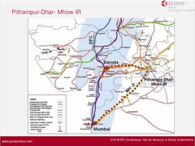 economic corridor between Indore airport and Pithampur