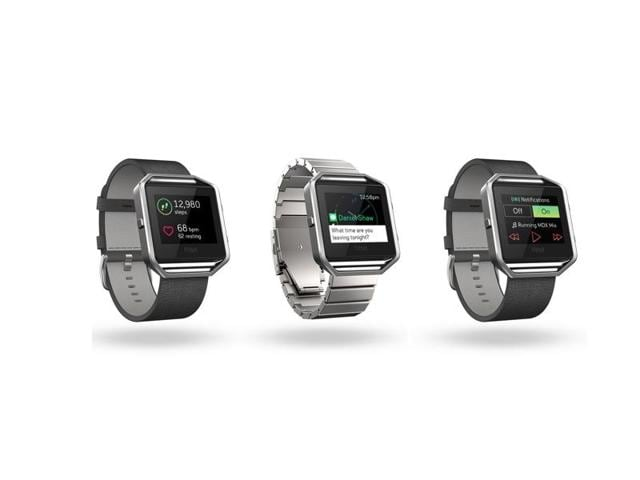 Fitbit Blaze smartwatch offers fitness tracking features along with customisable textured rubber bands, leather bands along with a metal bracelet