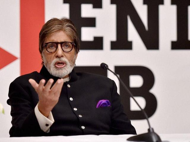 Bollywood actor Amitabh Bachchan speaks during a press briefing on the US government's commitment to end TB, ahead of the World TB Day in New Delhi on Monday.