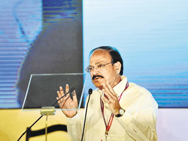 Naidu spoke on the JNU issue and Real Estate Reguatory bill in his address on Monday.