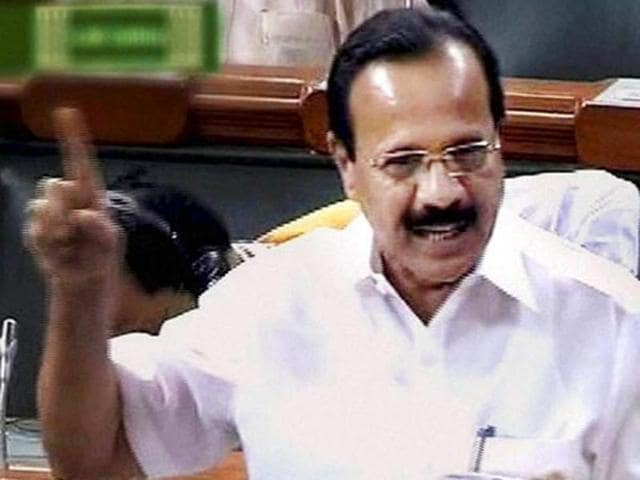 A file photo of Union law minister DV Sadananda Gowda speaking in the Lok Sabha.