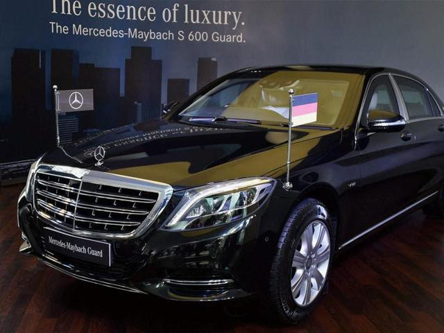 New Mercedes- Maybach S600 Guard launched in New Delhi on Tuesday.