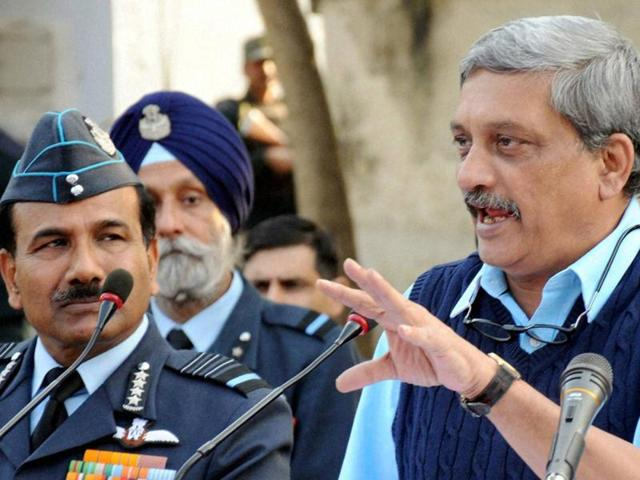Parrikar had sent a written notice to Parliament outlining the issues faced by India's armed forces.