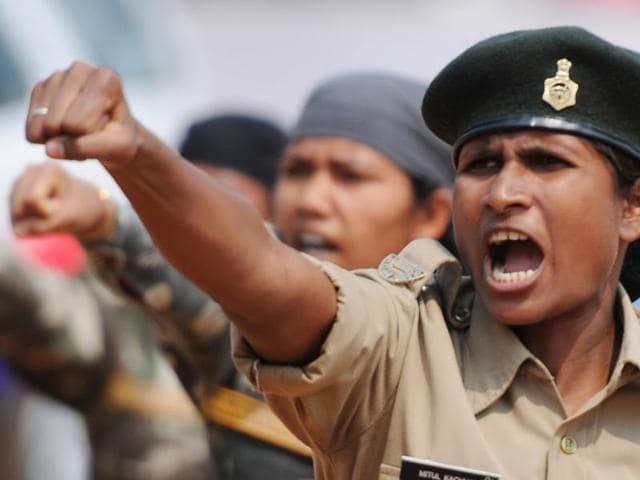 Jharkhand news,Women's Day,women battalion of police