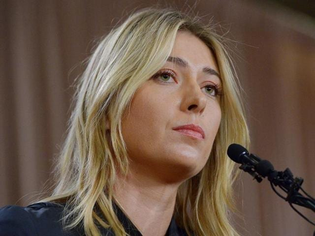Maria Sharapova speaks to the media announcing a failed drug test after the Australian Open.