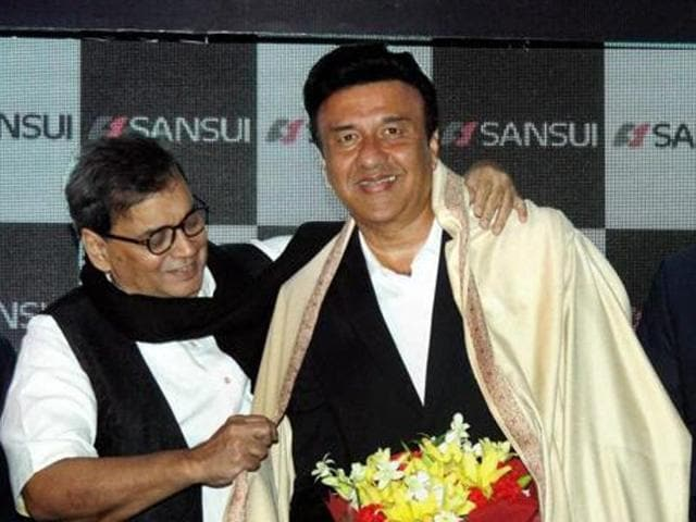 Subhash Ghai during a party to felicitate Anu Malik for receiving 'The Pride of Industry' award, in Mumbai.