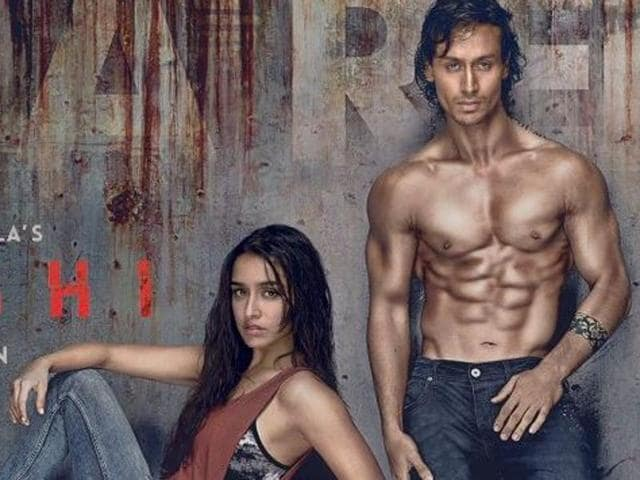 Shraddha and her co-star in the movie, Tiger Shroff, look rugged but dark and slick as if they just took a swim in an ocean with an oil spill.