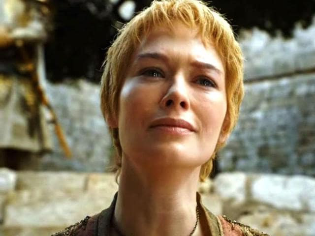 Lena Headey as a teary-eyed Cersei Lannister in Game of Thrones.