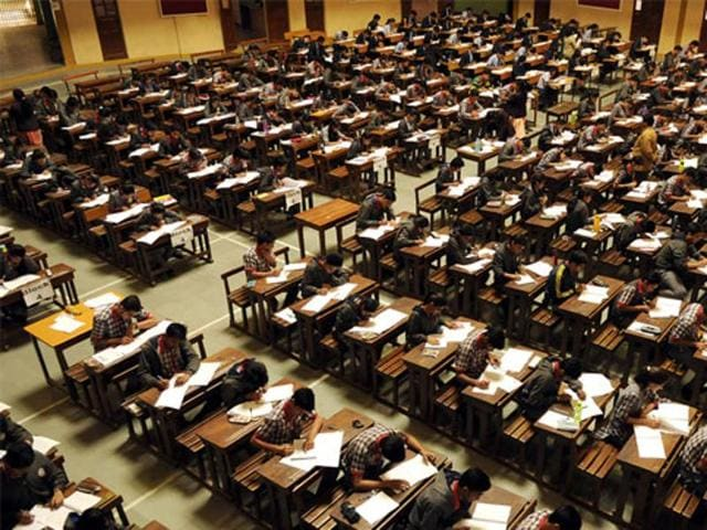 The Madhya Pradesh assembly was disrupted on Tuesday over a Class 12 board test paper asking students to write an essay on the dangers of caste-based reservation.