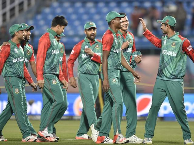 Tamim Iqbal struck an unbeaten 83 to guide Bangladesh past a spirited Netherlands by eight runs.