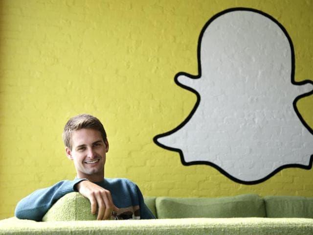Snapchat CEO Evan Spiegel in Los Angeles.