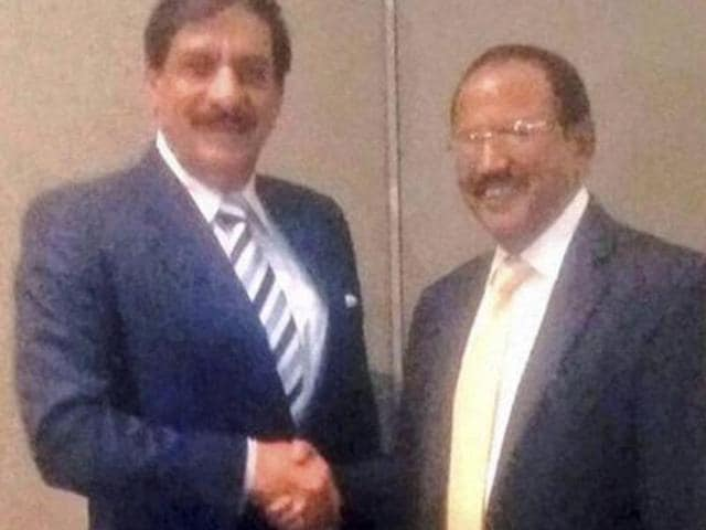 Naseer Janjua and Ajit Doval, National Security Advisors of Pakistan and India.