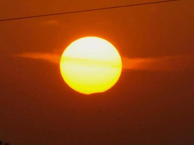 Partial solar eclipse as seen from Bhopal.