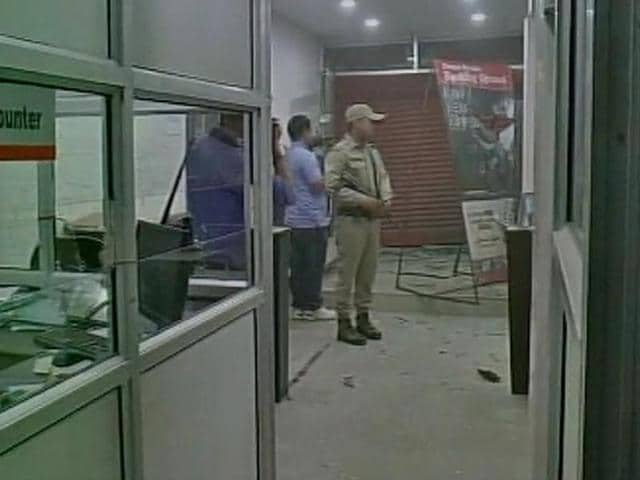 An employee of a retail outlet was injured after unidentified miscreants exploded an IED in Imphal.