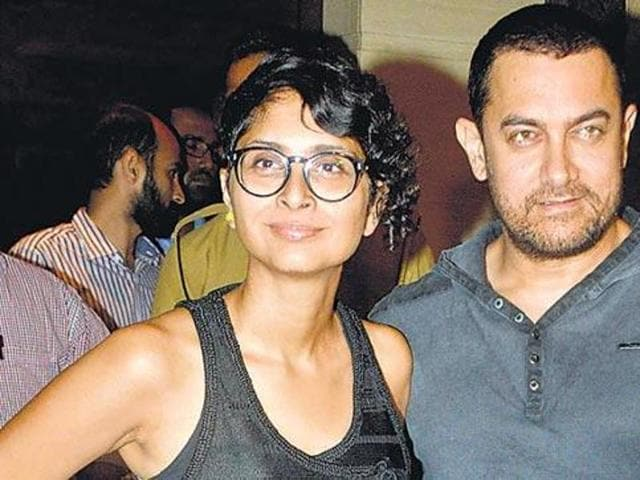 "File photo of Bollywood actor Aamir Khan and his wife Kiran Rao were spotted in Santacruz, Mumbai. Khan said he was ""alarmed"" by the recent incidents in the country. (Yogen Shah/HT Photo)"