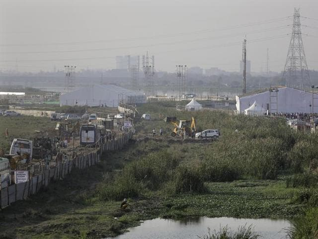 The Rs 5 crore environmental compensation imposed on the foundation is only the initial penalty as the rest of the fine amount will be decided after an NGT-appointed committee assesses the damage to the floodplain