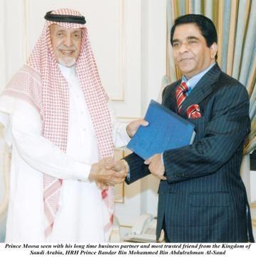 Dr Moosa Bin Shamsher (right) with Prince Bandar bin Muhammad bin Abdul Rahman Al-Saud.
