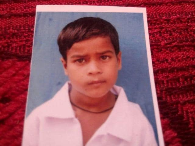 Opposition Congress MLAs on Thursday raised the matter of death of 9-year-old Dalit boy (above) .
