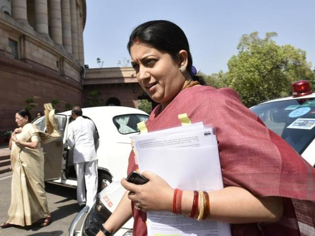 The son of a doctor, who was killed in a road accident allegedly involving a vehicle in the cavalcade of Union minister for human resource development Smriti Irani, has sought the intervention of President Pranab Mukherjee for justice.(PTI)
