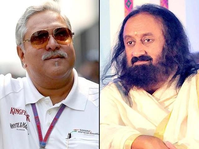Two people caused a storm on social media on Wednesday: Vijay Mallya and and Sri Sri Ravi Shankar.
