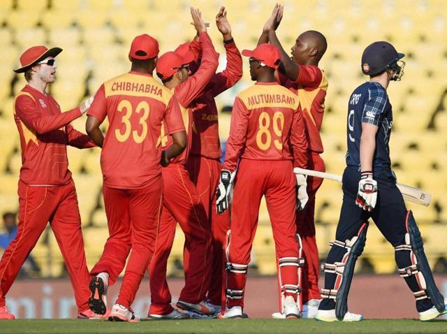 Zimbabwe vs Scotland,ICC World T20,Wellington Masakadza