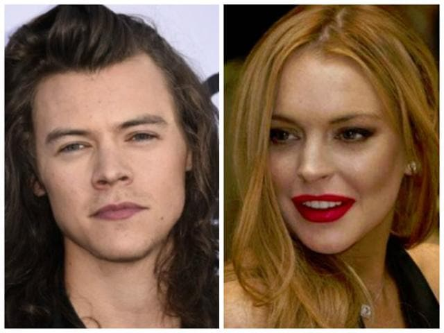 Lindsay Lohan,Harry Styles,Russian