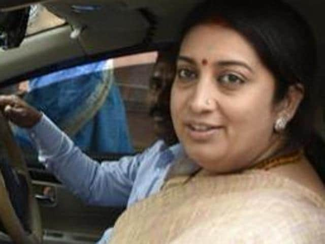 Union HRD minister Smriti Irani has been accused of driving away from the scene of the March 5 accident.