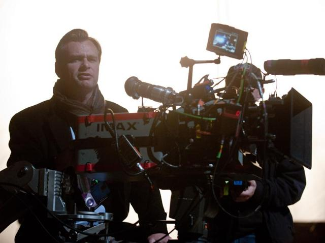 Christopher Nolan shooting The Dark Knight Rises with his favourite IMAX cameras.