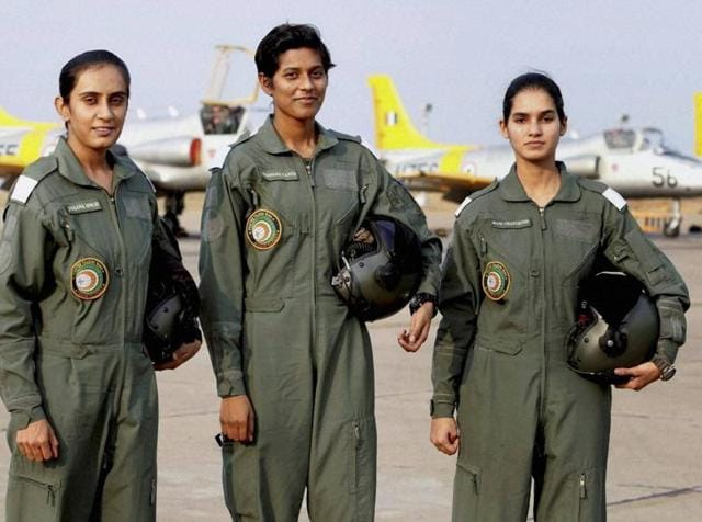 The three women trainees are in line to become India's first female fighter pilots.