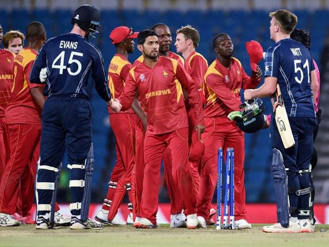 Scotland lost their second World T20 Qualifier to Zimbabwe, ruling them out of the main event.