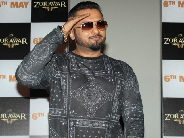 Singer Yo Yo Honey Singh during the trailer launch of the Punjabi film Zorawar, in Mumbai on Thursday.
