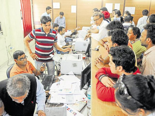 Staff members of the Noida authority and the stamp and registration department are finding it hard to deal with the increased workload.