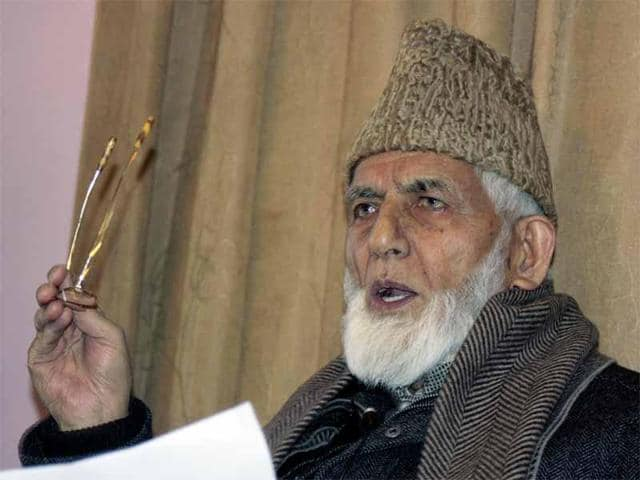 Syed Ali Shah Geelani was admitted to Max Hospital, Saket, on Thursday after he complained of breathlessness.