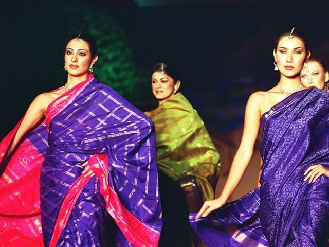Models flaunt khadi haute couture